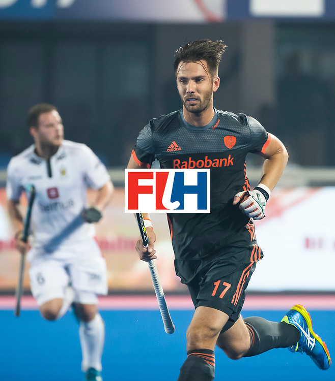 BHUBANESWAR - Martijn Havenga (Ned)  tijdens de Hockey World League Final wedstrijd Belgie-Nederland (3-0).   COPYRIGHT KOEN SUYK