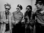 1986 Big Audio Dynamite Medicine Show Video Shoot. John Lydon, Joe Strummer, Don Letts, Paul Simonon
