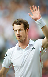 LONDON, ENGLAND - Wednesday, June 30, 2010: Andy Murray (GBR) celebrates after winning the Gentlemen's Singles Quarter-Final on day nine of the Wimbledon Lawn Tennis Championships at the All England Lawn Tennis and Croquet Club. (Pic by David Rawcliffe/Propaganda)
