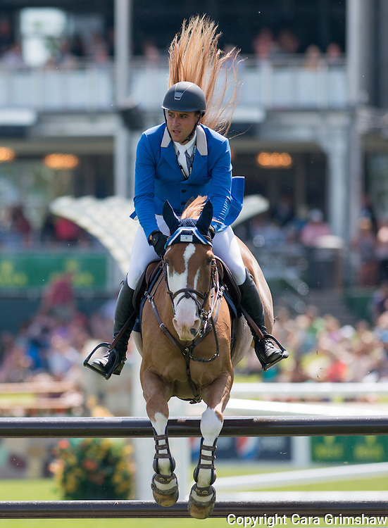 PAULO SANTANA (ESA) rides TALOUBET in the 1.50m Derby Nexen Cup during National CSI 5* at Spruce Meadows presented by Rolex, June 7 2015. Calgary.