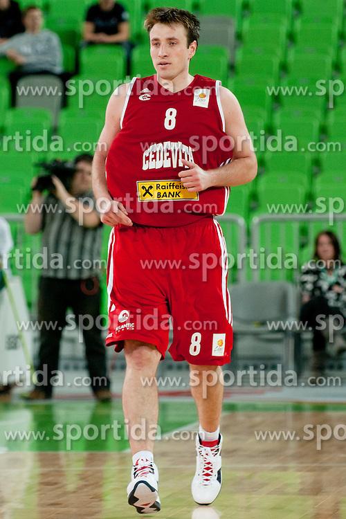 Matjaz Smodis of KK Cedevita during basketball match between KK Union Olimpija and and KK Cedevita in 4th Round of ABA League, on October 11, 2011, in Arena Stozice, Slovenia. (Photo by Matic Klansek Velej / Sportida)