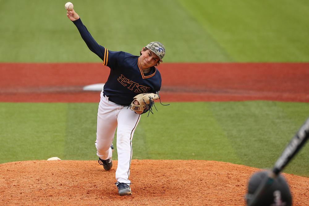 April 8, 2018 - Johnson City, Tennessee - Thomas Stadium: ETSU pitcher Carter Linton (26) <br /> <br /> Image Credit: Dakota Hamilton/ETSU