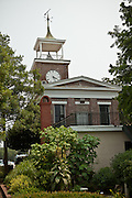Clock town on the Old Market Building now the Rice Museum in Georgetown, SC.