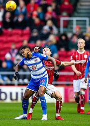 Leandro Bacuna of Reading and Joe Bryan of Bristol City compete for the ball - Rogan/JMP - 26/12/2017 - Ashton Gate Stadium - Bristol, England - Bristol City v Reading - Sky Bet Championship.