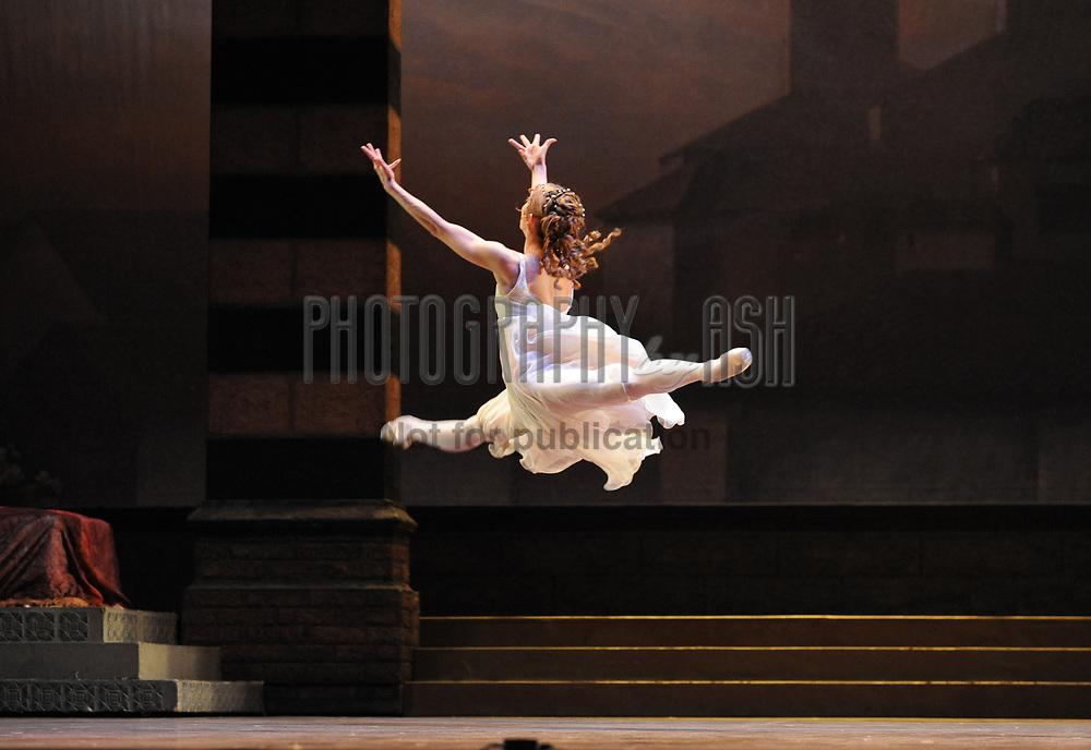 Daria Klimentová, principle dancer perform in English National Ballet's Romeo & Juliet, choreographed by Rudolf Nureyev, October 13, 2010. Photo: Amber Hunt