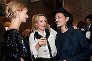 JACQUETTA WHEELER; BAY GARNETT; MATTHEW WILLIAMSON,  Vogue Fashion night out.- Alexandra Shulman and Paddy Byng are host a party  to celebrate the launch for FashionÕs Night Out At Asprey. Bond St and afterwards in the street. London. 8 September 2011. <br />  <br />  , -DO NOT ARCHIVE-© Copyright Photograph by Dafydd Jones. 248 Clapham Rd. London SW9 0PZ. Tel 0207 820 0771. www.dafjones.com.<br /> JACQUETTA WHEELER; BAY GARNETT; MATTHEW WILLIAMSON,  Vogue Fashion night out.- Alexandra Shulman and Paddy Byng are host a party  to celebrate the launch for Fashion's Night Out At Asprey. Bond St and afterwards in the street. London. 8 September 2011. <br />  <br />  , -DO NOT ARCHIVE-© Copyright Photograph by Dafydd Jones. 248 Clapham Rd. London SW9 0PZ. Tel 0207 820 0771. www.dafjones.com.