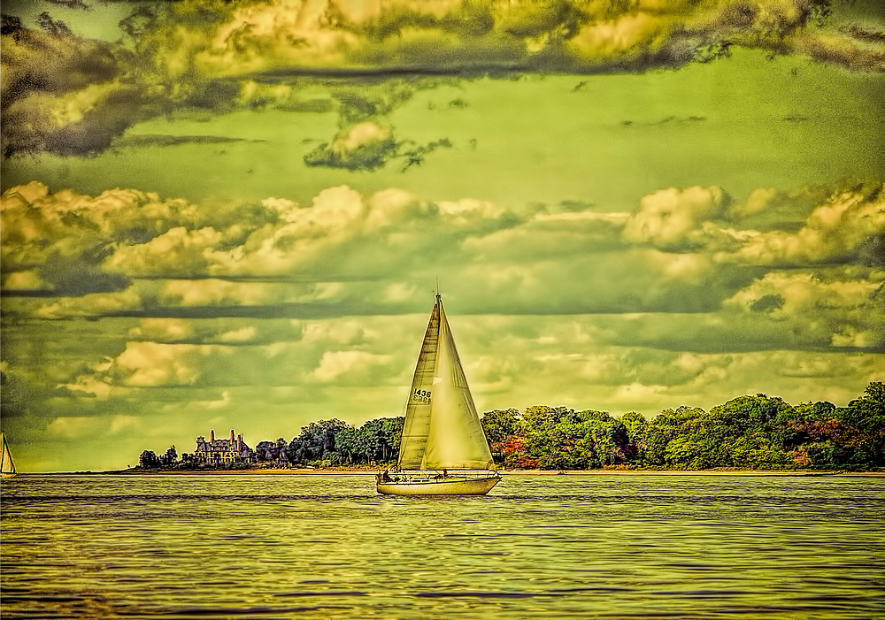 Sail boat in City Island, New York.