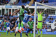 AFC Wimbledon striker Tom Elliott (9) scores a goal 0-1 during the EFL Sky Bet League 1 match between Peterborough United and AFC Wimbledon at ABAX Stadium, London Road, Peterborough, England on 22 October 2016. Photo by Stuart Butcher.