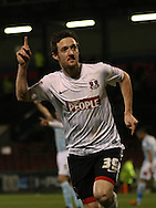 Picture by David Horn/Focus Images Ltd +44 7545 970036.15/01/2013.David Mooney of Leyton Orient celebrates scoring only to have it ruled out for off-side during the The FA Cup match at the Matchroom Stadium, London.