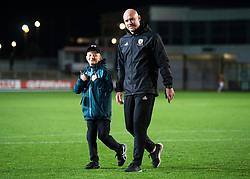 NEWPORT, WALES - Tuesday, October 16, 2018: Wales' manager Rob Page after the UEFA Under-21 Championship Italy 2019 Qualifying Group B match between Wales and Switzerland at Rodney Parade. (Pic by Laura Malkin/Propaganda)