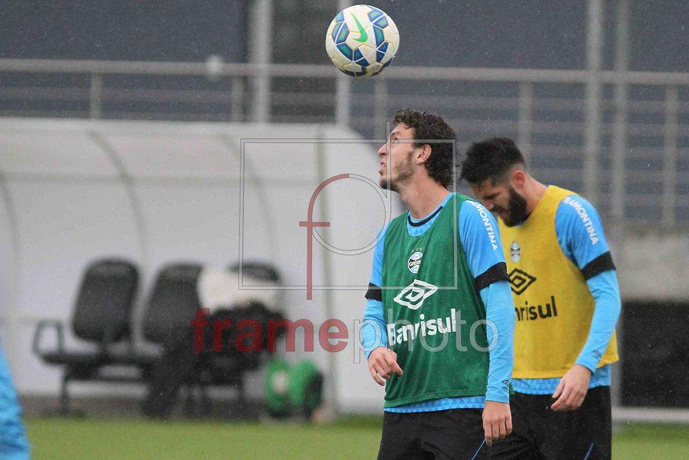 Futebol - Treino  - Galhardo , durante  o treino do Grêmio, no CT Luiz Carvalho. Foto: Luciano Leon/Raw Image/Frame