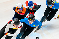 Sjinkie Knegt in action on the 1500 meter during ISU World Cup Finals Shorttrack 2020 on February 15, 2020 in Optisport Sportboulevard Dordrecht.
