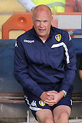 Uwe Rosler during the Friendly match between York City and Leeds United at Bootham Crescent, York, England on 15 July 2015. Photo by Simon Davies.