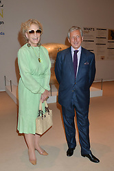 PRINCESS MICHAEL OF KENT and Chairman of Masterpiece PHILIP HEWAT-JABOOR at the private preview of Masterpiece 2015 held at the Royal Hospital Chelsea, London on 24th June 2015.