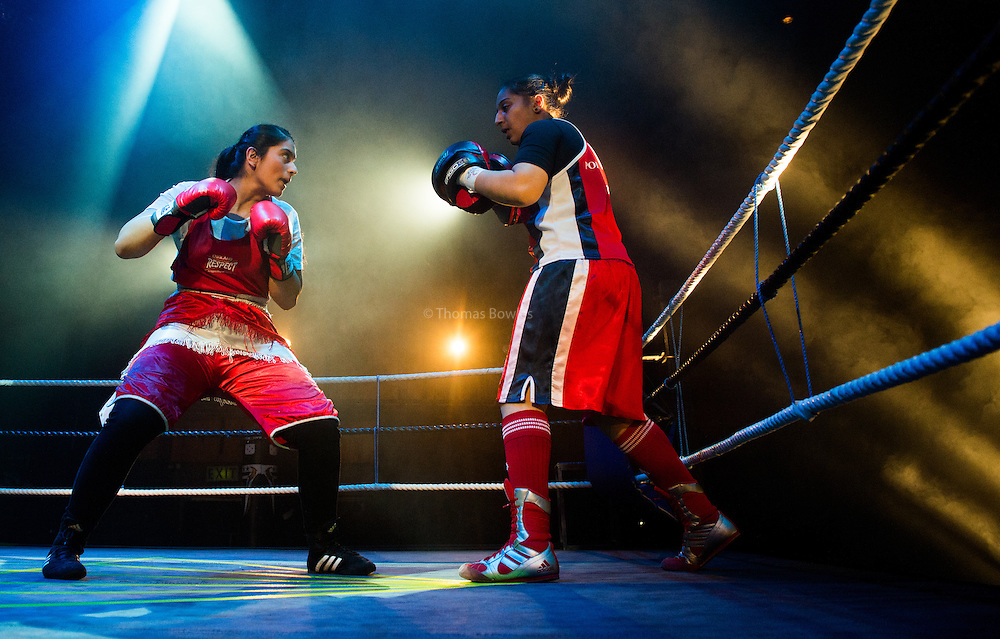 """Saria Tabasum and  Freyaa Ali,  perform """"NO GUTS, NO HEART, NO GLORY"""" at the Queen Elizabeth Hall. Part of the Southbank's Women of the World Festival."""