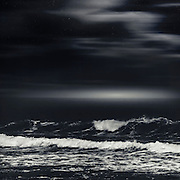 Surreal nightly seascape - manipulated photograph