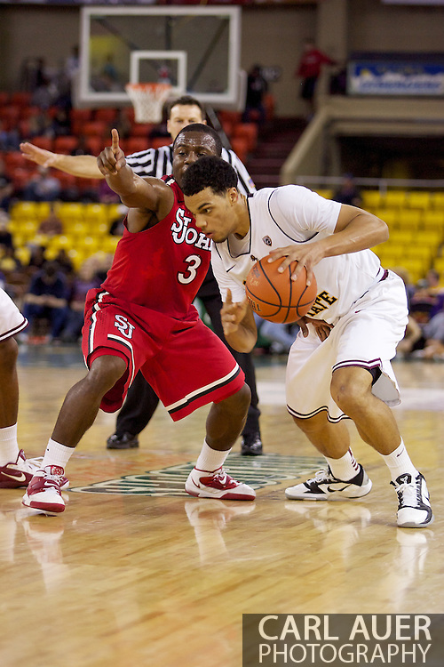 November 27th, 2010:  Anchorage, Alaska - Arizona State's Trent Lockett (24) in the Sun Devil's 58-67 loss to St. Johns in the championship game of the Great Alaska Shootout.