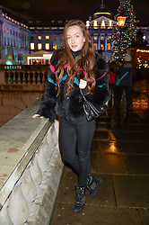 OLIVIA GRANT at Skate At Somerset House with Fortnum & Mason on 16th November 2016.