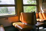 Interior of a railway carriage, Riga, Latvia