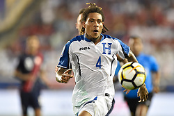 July 7, 2017 - Harrison, New Jersey, U.S - Honduras defender HENRY FIGUEROA (4) is seen during CONCACAF Gold Cup 2017 action at Red Bull Arena in Harrison New Jersey Costa Rica defeats Honduras 1 to 0. (Credit Image: © Brooks Von Arx via ZUMA Wire)