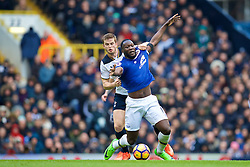 LONDON, ENGLAND - Sunday, March 5, 2017: Everton's Romelu Lukaku in action against Tottenham Hotspur's Eric Dier during the FA Premier League match at White Hart Lane. (Pic by David Rawcliffe/Propaganda)