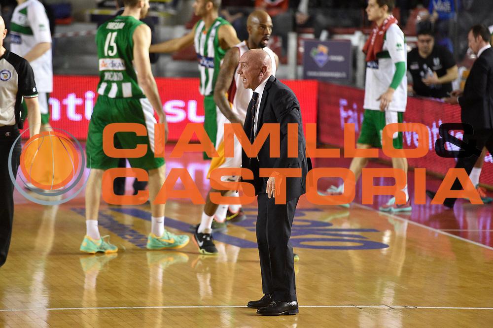 DESCRIZIONE : Roma Lega A 2014-15 <br /> Acea Virtus Roma - Sidigas Avellino <br /> GIOCATORE : Luca Dalmonte <br /> CATEGORIA : coach<br /> SQUADRA : Acea Virtus Roma<br /> EVENTO : Campionato Lega A 2014-2015 <br /> GARA : Acea Virtus Roma - Sidigas Avellino <br /> DATA : 04/04/2015<br /> SPORT : Pallacanestro <br /> AUTORE : Agenzia Ciamillo-Castoria/GiulioCiamillo<br /> Galleria : Lega Basket A 2014-2015  <br /> Fotonotizia : Roma Lega A 2014-15 Acea Virtus Roma - Sidigas Avellino