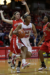 30 December 2010: Shala Jackson moves in along the baseline during an NCAA Womens basketball game between the Bradley Braves and the Illinois State Redbirds at Redbird Arena in Normal Illinois.