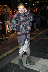 Vivienne Westwood  arriving for the press night of the Barry Humphries' Farewell Tour;  Eat, Pray, Laugh, at the London Palladium, Friday, 15th November 2013. Picture by Stephen Lock / i-Images
