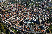 Nederland, Gelderland, Zurphen, 03-10-2010; overzicht van de binnenstad .met Sint Walburgiskerk en Librije..Overview of the town with St. Walburga Church and Librije (medieval library).  .luchtfoto (toeslag), aerial photo (additional fee required).foto/photo Siebe Swart