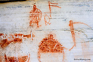 Native American Pictographs at Bear Gulch site near Lewistown Montana