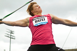 adidas Grand Prix Diamond League professional track & field meet: womens javelin throw, Martina RATEJ, Slovania