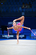Sabina Ashirbayeva born November 5, 1998 is an individual Kazakh rhythmic gymnast. She is the 2016 Asian Championships All-around bronze medalist. At the 2017 World Championships in Pesaro Sabina finished 16th in the all-around final, she did not advance into any apparatus finals.