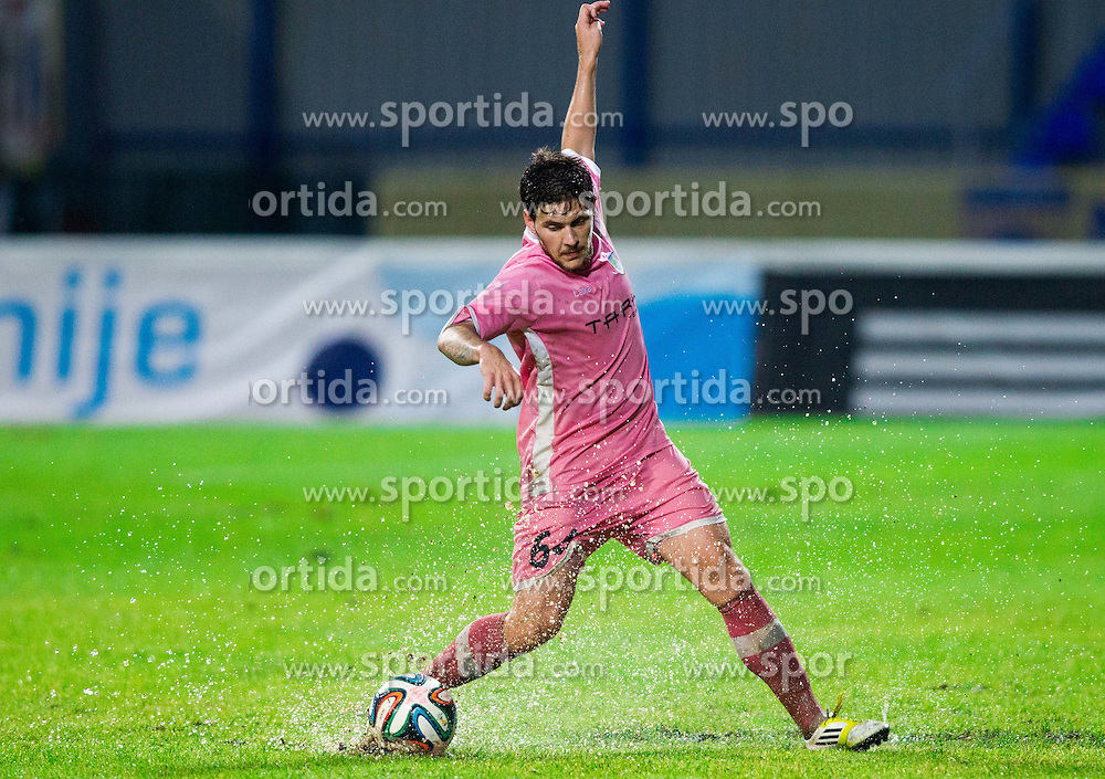 Erik Janza #64 of Domzale during football match between NK Kalcer Radomlje and NK Domzale in 8th Round of Prva liga Telekom Slovenije 2014/15, on September 13, 2014 in Sports park Domzale, Slovenia. Photo by Vid Ponikvar  / Sportida.com