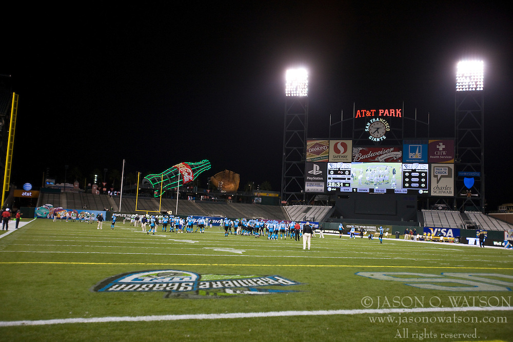 November 19, 2009; San Francisco, CA, USA;  Field view of AT&T Park before the game between the Florida Tuskers at the California Redwoods.