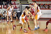 DESCRIZIONE : Roma Lega A 2014-2015 Acea Roma Grissinbon Reggio Emilia<br /> GIOCATORE : Rok Stipcevic Maxime De Zeeuw<br /> CATEGORIA : controcampo palleggio blocco<br /> SQUADRA : Acea Roma<br /> EVENTO : Campionato Lega A 2014-2015<br /> GARA : Acea Roma Grissinbon Reggio Emilia<br /> DATA : 16/03/2015<br /> SPORT : Pallacanestro<br /> AUTORE : Agenzia Ciamillo-Castoria/GiulioCiamillo<br /> GALLERIA : Lega Basket A 2014-2015<br /> FOTONOTIZIA : Roma Lega A 2014-2015 Acea Roma Grissinbon Reggio Emilia<br /> PREDEFINITA :