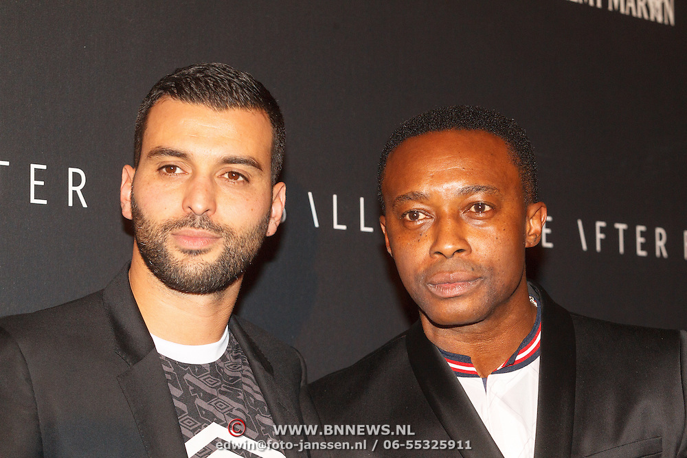 NLD/Amsterdam/20151110 - Life After Football Award 2015, Soufian Asafiati en Regi Blinker