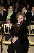 Lily Safra, Valentino couture show, Ecole Nationale Superiore des Beaux -Arts, rue Bonaparte. After party at the Ritz. 23 January  2006.  ONE TIME USE ONLY - DO NOT ARCHIVE  © Copyright Photograph by Dafydd Jones 66 Stockwell Park Rd. London SW9 0DA Tel 020 7733 0108 www.dafjones.com