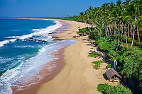 Sri Lanka, province du Sud, plage de Tangalle, vue aerienne // Sri Lanka, Southern Province, South Coast beach, Tangalle beach, aerial view
