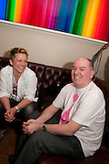 CAROLINE GILLIGAN; BRYAN MORRISON, Streetsmart Reception to celebrate the 2010 campaign at which voluntary £1 was  added to the table bill at the end of a meal at participating restaurants raising £460,000. Groucho club. Dean St. London. 18 April 2011. -DO NOT ARCHIVE-© Copyright Photograph by Dafydd Jones. 248 Clapham Rd. London SW9 0PZ. Tel 0207 820 0771. www.dafjones.com.