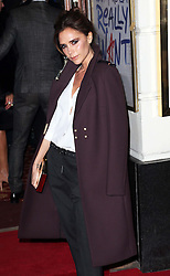 Victoria Beckham and their children  arriving at the opening of the Viva Forever musical in London, Tuesday, 11th December 2012.  Photo by: Stephen Lock / i-Images