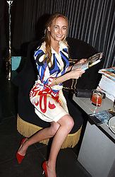 MISS CLEMENTINE HAMBRO, she was a bridesmaid at the wedding of the Prince of Wales to Lady Diana Spencer at Tatler Magazine's Summer Party held at the Baglioni Hotel, 60 Hyde Park Gate, London SW7 on 1st July 2004.