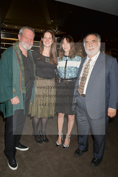 Left to right, TERRY GILLIAM, AMY GILLIAM, GIA COPPOLA and FRANCIS FORD COPPOLA at a dinner hosted by Liberatum to honour Francis Ford Coppola held at the Bulgari Hotel & Residences, 171 Knightsbridge, London on 17th November 2014.