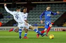 Gwion Edwards of Peterborough United skips past Oliver Hawkins of Portsmouth - Mandatory by-line: Joe Dent/JMP - 21/11/2017 - FOOTBALL - ABAX Stadium - Peterborough, England - Peterborough United v Portsmouth - Sky Bet League One