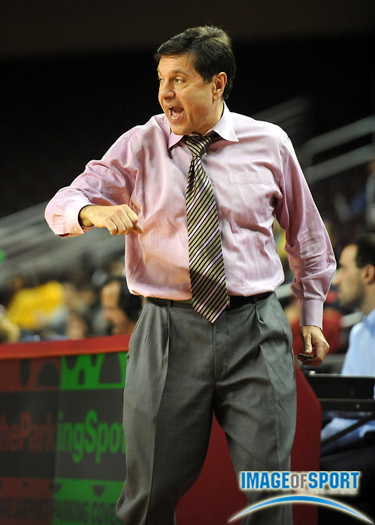 Dec 2, 2008; Los Angeles, CA, USA; Southern California Trojans coach Mark Trakh during the game against the Michigan Wolverines at the Galen Center. USC defeated Michigan 81-53.