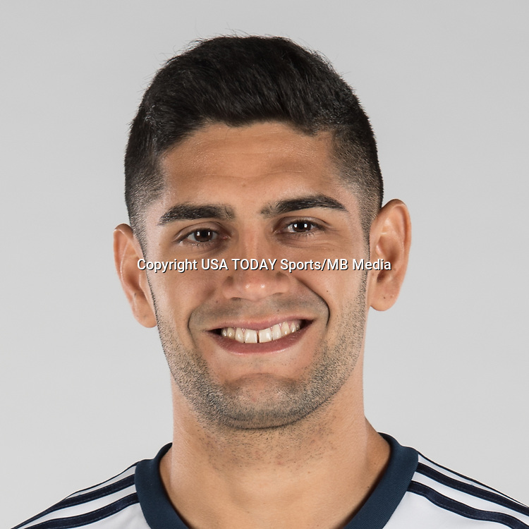 Feb 25, 2017; USA; Vancouver Whitecaps FC player Matias Laba poses for a photo. Mandatory Credit: USA TODAY Sports