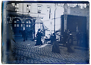 Paris casual daily life street scene early 1900s