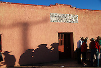 """Mexico, Chihuahua, July 5-20, 2010. Undaunted by blistering desert temperatures, the 15th annnual """"Cabalgata Villista,"""" an epic horse trek from Ciudad Juarez, Chihuahua to Hacienda Canutillo in Durango met with enthusiastic crowds on its route southward through Satevo and Valle de Zaragoza. Armed with fresh horses and a patriotic spirit, new """"jinetes"""" (riders) join the cavalcade from small towns along the way, which welcome the participants of this long dusty journey. Started in 1996 by José Socorro Salcido Gómez, the """"cabalgata"""" in memory of Mexican revolutionary general Pancho Villa has a particular poignancy this bicentennial year. Photographs commissioned by the Chihuahua Department of Tourism."""