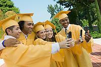 Graduates Taking Pictures with Camera Phones