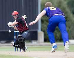 Canterbury's Michael Pollard, left, scores runs off the bowling of Otago Volts' Jimmy Neesham in the Ford Trophy one-day domestic cricket match at the University of Otago Oval, Dunedin, New Zealand, Saturday, January 27, 2018. Credit:SNPA / Adam Binns ** NO ARCHIVING**