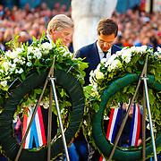 NLD/Amsterdam/20160504 - Nationale Dodenherdenking 2016 Dam Amsterdam, minister president Mark Rutte